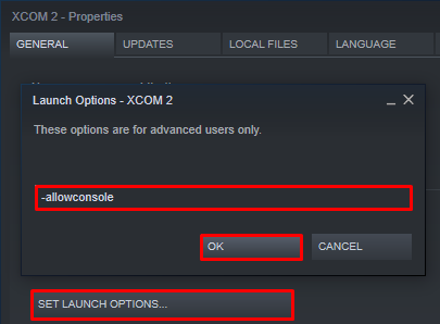 XCOM 2 Launch Options to Enable Console